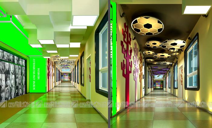 星宝国际幼儿园通道设计方案